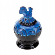 Rooster Blue Glazed Ceramic Oil Warmer