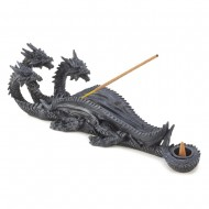 Triple Head Dragon Incense Burner